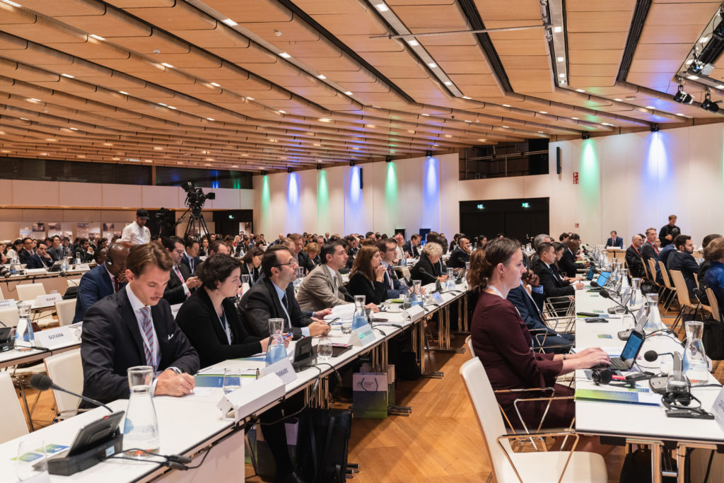 International representatives at work during the Protecting Civilians in Urban Warfare Conference 2019 at the Vienna International Center, Vienna, 1st October 2019